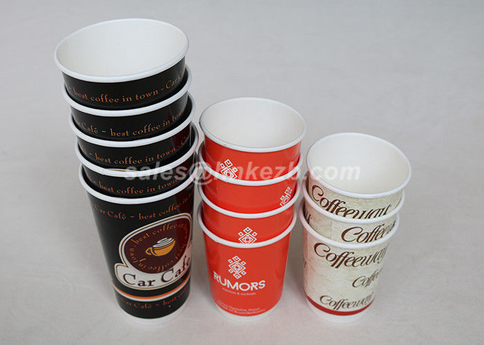 Food Grade Personalized Disposable Paper Cups Double Wall For Hot / Cold Drinks
