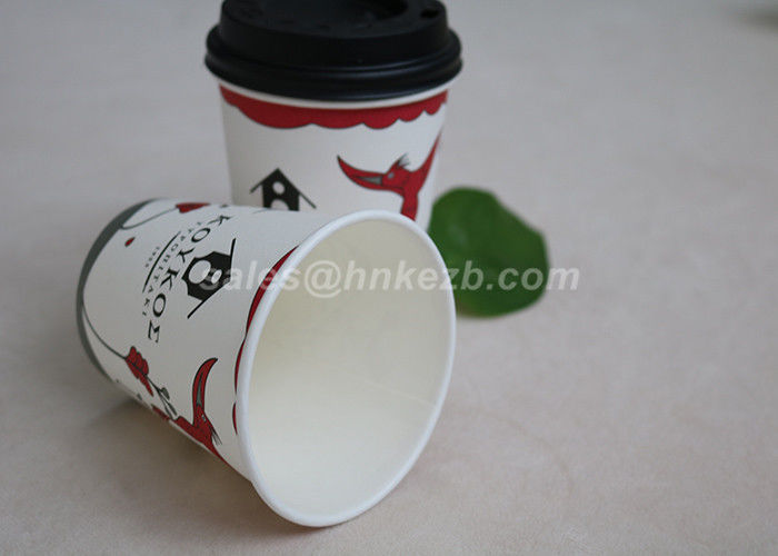 16oz Customized Printing Disposable Paper Coffee Cups PLA Coating