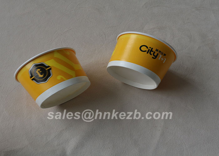 Flexographic Printing 8oz Double Wall Paper Cup For Ice Cream EN 1869:1997